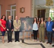 """Sara Ramírez Domínguez y Rocío González Palacios ganan el Concurso de Pintura Ateneo de Sevilla 2014 con su obra """"Siringa"""""""